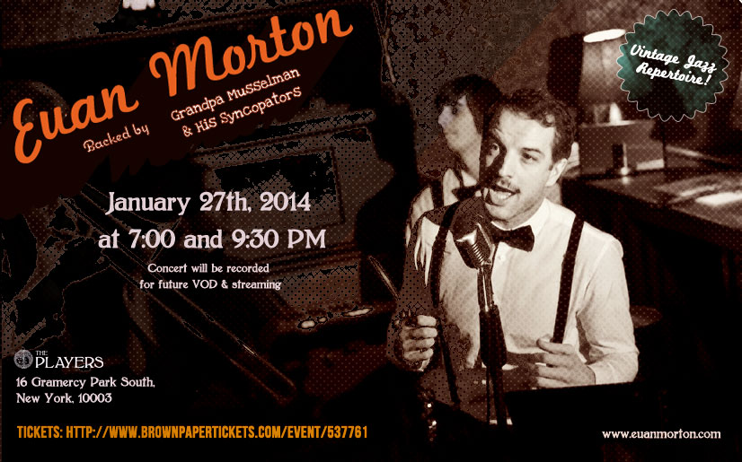 Euan Morton live at the Players on January 27th 2014