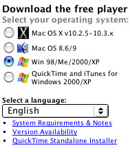 select operating system